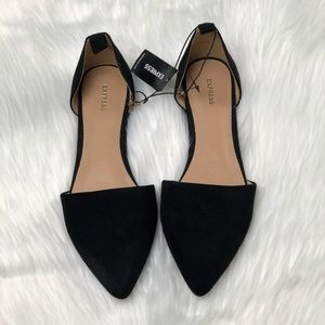 NWT Express Suede D'Orsay Flats